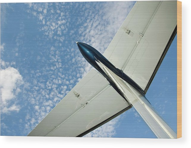 Airplane Wood Print featuring the photograph Tail Of The Airplane by Carolyn Marshall