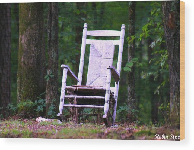 Relax.rocking Chair Wood Print featuring the photograph Take Time To Relax by Robin Vargo