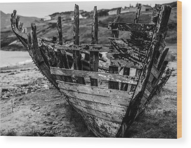 Shipwreck Wood Print featuring the photograph Talmine Shipwreck by Christopher Sinclair