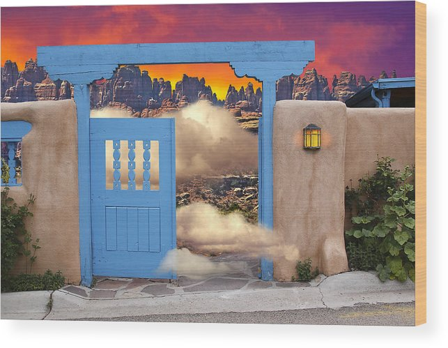 Santa Fe And Taos Wood Print featuring the photograph Taos B And B by Greg Wells