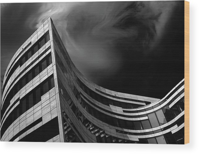 Modern Wood Print featuring the photograph Tectur by Gilbert Claes