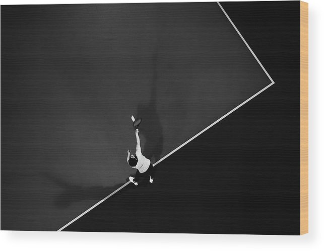 Aerial Wood Print featuring the photograph Tennis by Rui Caria