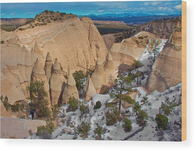Tent Rocks National Monument Wood Print featuring the photograph Tent Rocks National Monument by Britt Runyon