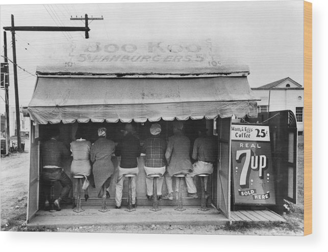 1939 Wood Print featuring the photograph Texas Luncheonette, 1939 by Granger