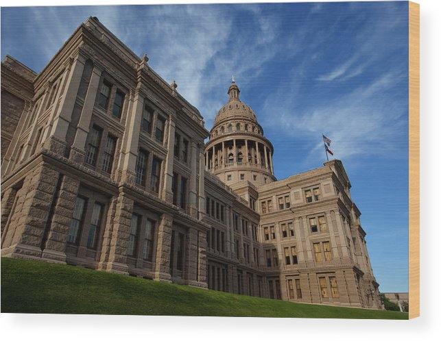 Capitol Wood Print featuring the photograph Texas State Capitol 3 by Paul Huchton