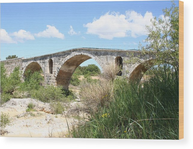 Roman Stonebridge Wood Print featuring the photograph The Arches Of Pont St. Julien by Christiane Schulze Art And Photography