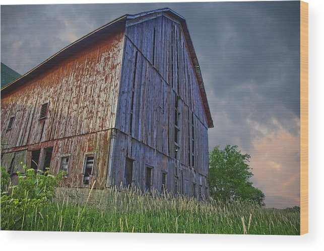 Barn Wood Print featuring the photograph The Barn by John Crothers