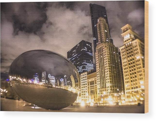 Chicago Wood Print featuring the photograph The Bean In Chicago by John McGraw