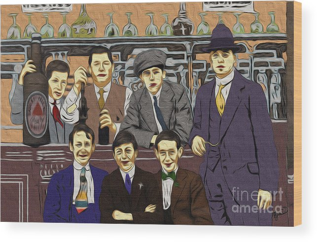 1903 Wood Print featuring the digital art The Boys At Blackpool by Megan Dirsa-DuBois