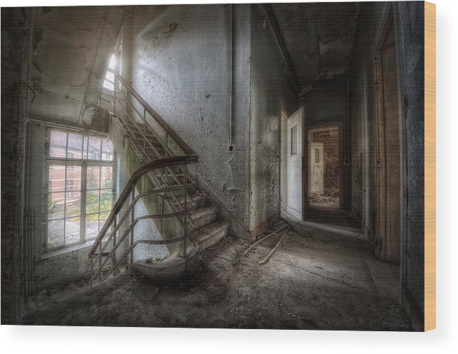 Stairs Wood Print featuring the photograph The Exit by Jason Green