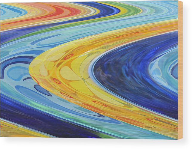Abstract Wood Print featuring the photograph The Flow by Kenny Francis