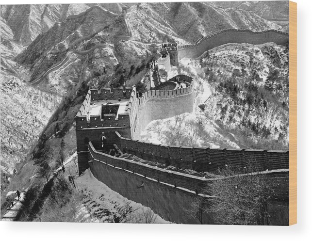 China Wood Print featuring the photograph The Great Wall Of China by Sebastian Musial