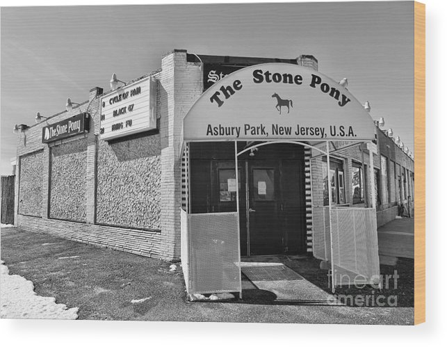 Clarence Clemons Wood Print featuring the photograph The House That Bruce Built - The Stone Pony by Lee Dos Santos