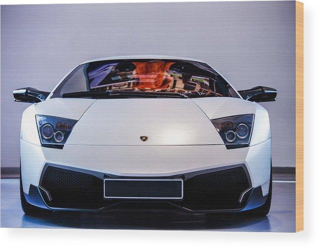 The Lamborghini Murcielago Sv Wood Print By Martyn Lucy