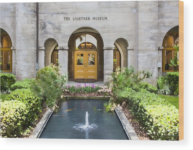 St. Augustine Wood Print featuring the photograph The Lightner Museum by Rich Franco