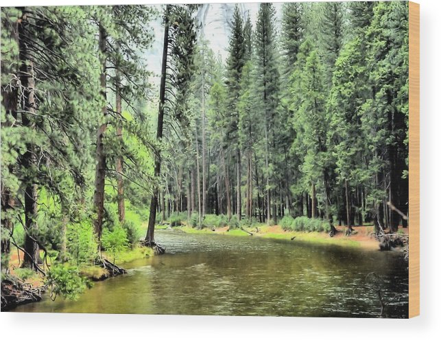 Wood Print featuring the photograph The Merced River by Karen Dempsey