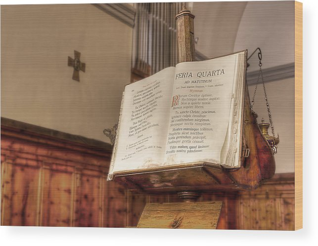 Missal Wood Print featuring the photograph The Missal by Leonardo Marangi