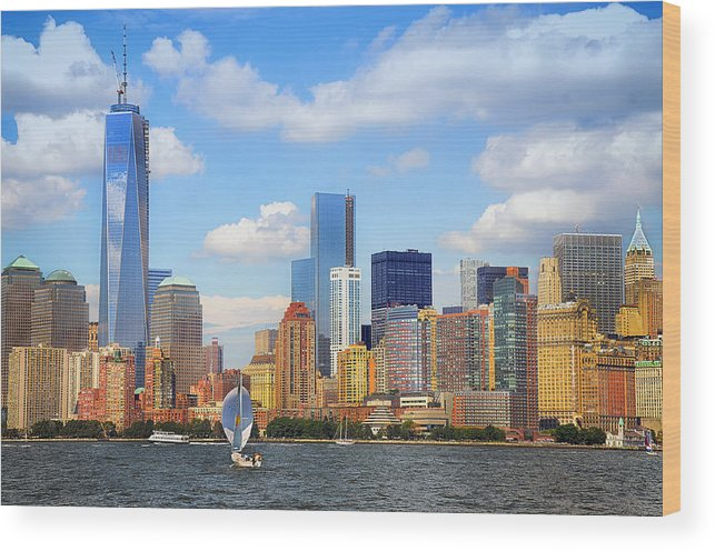 World Trade Center Wood Print featuring the photograph The New New York Skyline by Maggie Magee Molino