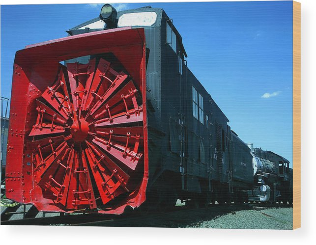 Original Snowblower Wood Print featuring the photograph The Original Snowblower by Mike Flynn