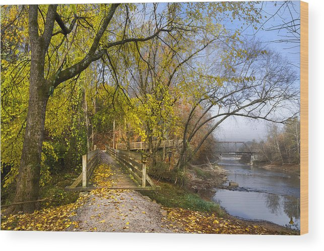 Appalachia Wood Print featuring the photograph The Park by Debra and Dave Vanderlaan
