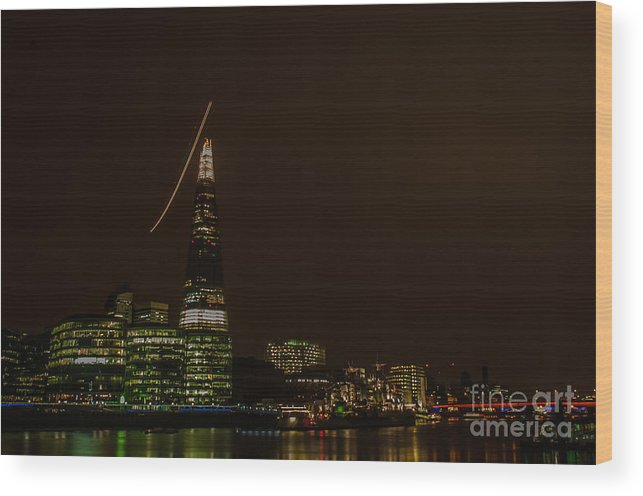 London Wood Print featuring the photograph The Shard by Jorgen Norgaard