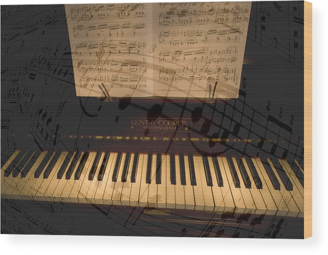 Piano Wood Print featuring the photograph The Sound Of Music by Thomas Glover