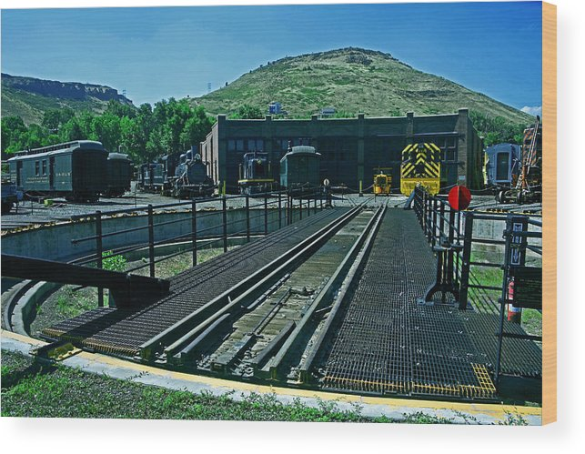 Baggage Car Wood Print featuring the photograph The Turntable by Mike Flynn