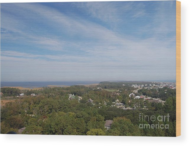 Outer Banks Wood Print featuring the photograph The View From The Top Of Currituck Beach Lighthouse by Anne Marie Corbett