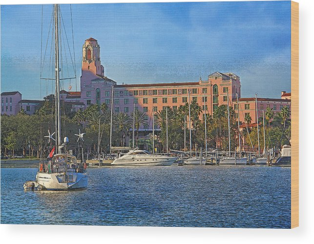 Vinoy Park Hotel Wood Print featuring the photograph The Vinoy Park Hotel by HH Photography of Florida