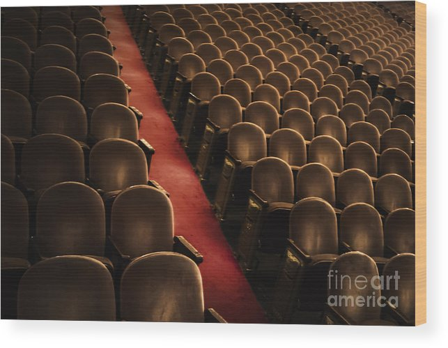 Chairs Wood Print featuring the photograph Theater Seats by Margie Hurwich