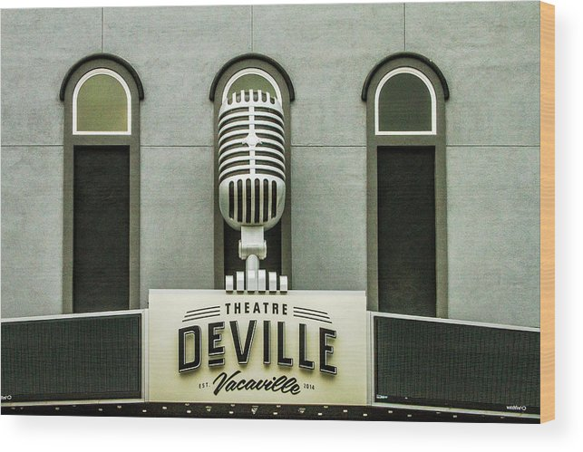 Deville Wood Print featuring the photograph Theatre Deville by Bill Gallagher