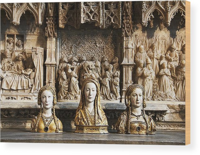 Saints Wood Print featuring the photograph Three Saints In Marble by Alice Gipson
