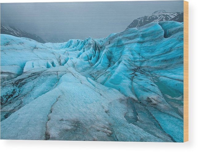 Iceland Wood Print featuring the photograph Time Will Tell by Jim Southwell