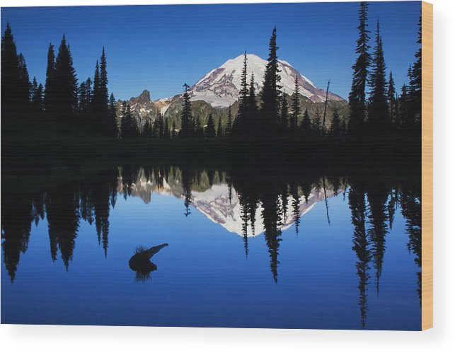 Nature Wood Print featuring the photograph Tipsoo Sunrise by Mark Kiver