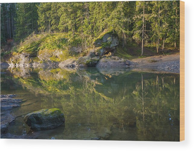 British Columbia Wood Print featuring the photograph Top Bridge by Carrie Cole