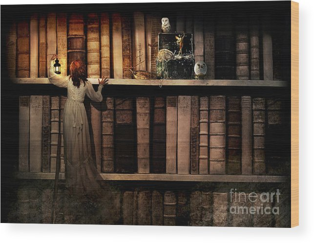 Adult Wood Print featuring the digital art Treasure Hunt by Aimee Stewart