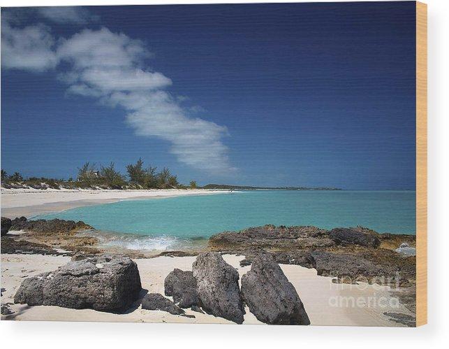 Tropic Of Cancer Beach Wood Print featuring the photograph Tropic Of Cancer Beach Exuma Bahamas by Cheryl Hurtak
