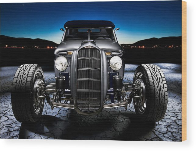 Car Wood Print featuring the photograph Millers Chop Shop 1964 Truckster Frontend by Yo Pedro