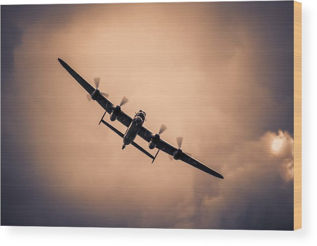 Lancaster Wood Print featuring the photograph Turning For Home by Chris Smith
