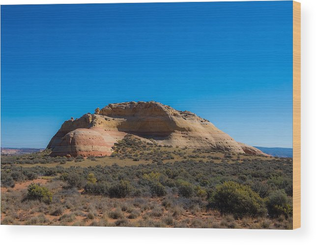 Donna Giesbrecht Wood Print featuring the photograph Turtle Mountain by Randy Giesbrecht