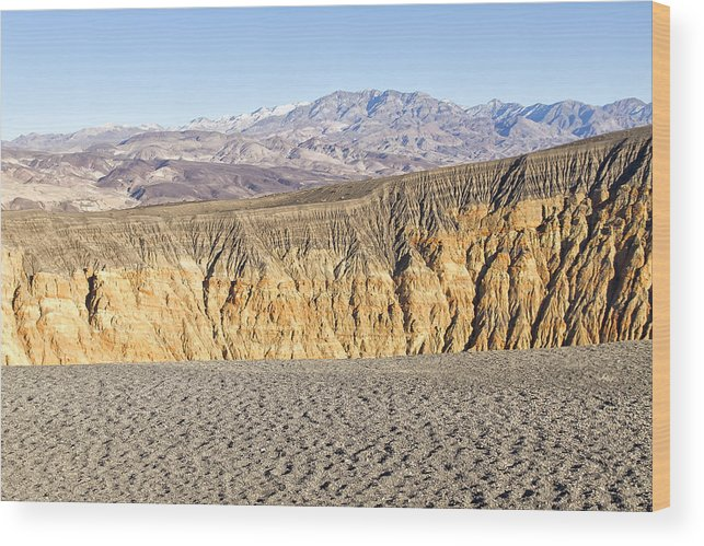 California Wood Print featuring the photograph Ubehebe Crater by Newman Artography