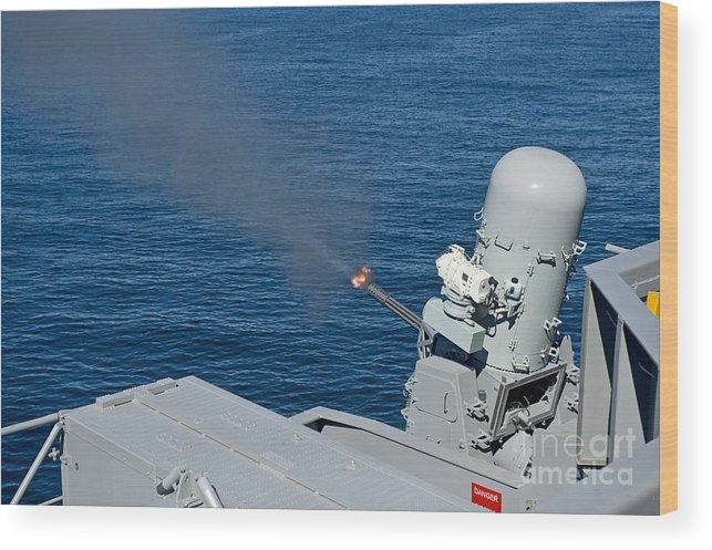 Military Wood Print featuring the photograph Uss Harry S. Truman Tests The Close-in by Stocktrek Images