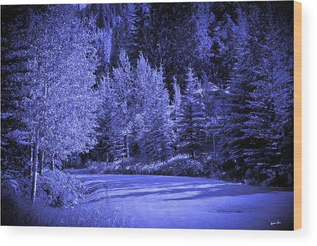 Snow Wood Print featuring the photograph Velvet Winter - Vail - Colorado by Madeline Ellis