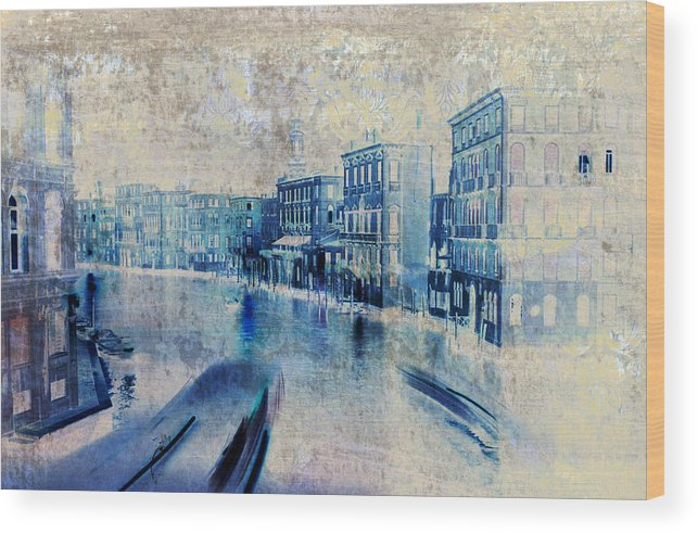 Venice Wood Print featuring the painting Venice Canal Grande by Frank Tschakert