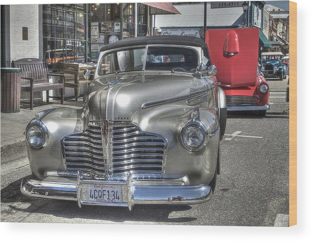 Mother Lode Car Show 2013 Wood Print featuring the photograph Vintage Cruise Cars 6 by SC Heffner