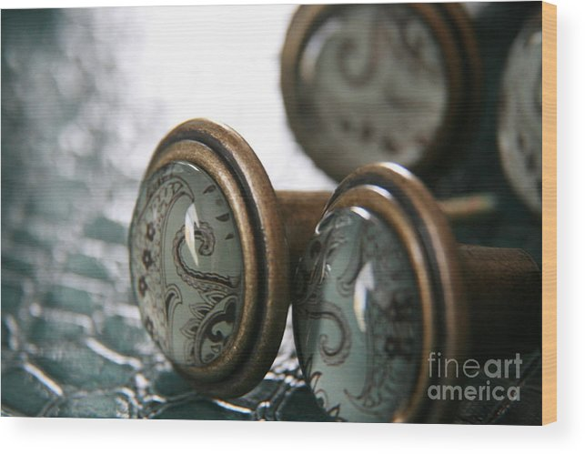 Turquoise Wood Print featuring the photograph Vintage Turquoise 3 by Lynn England