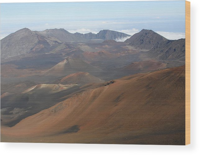 Crater Wood Print featuring the photograph Volcano by Dick Willis