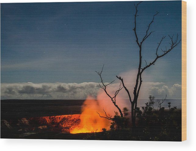 Hilo Wood Print featuring the photograph Volcano Hawaii by Ed Coykendall