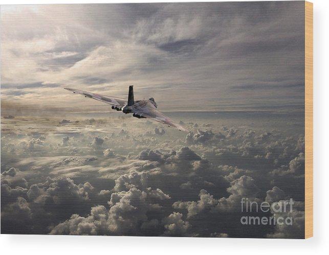 Avro Vulcan Wood Print featuring the digital art Vulcan Farewell by J Biggadike