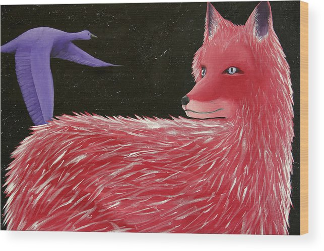 Constellations Wood Print featuring the painting Vulpecula And Anser by Kailie DeBolt